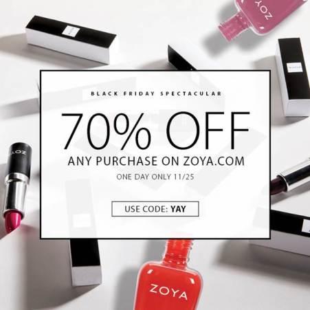 Zoya Nail Polish 2016 Black Friday Sale