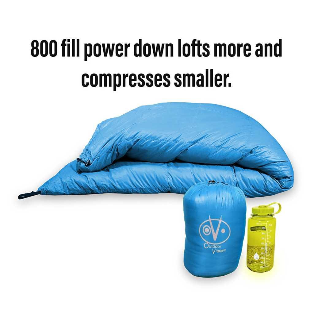 Outdoor Vitals Aerie 30 F Down Underquilt Sleeping Bag