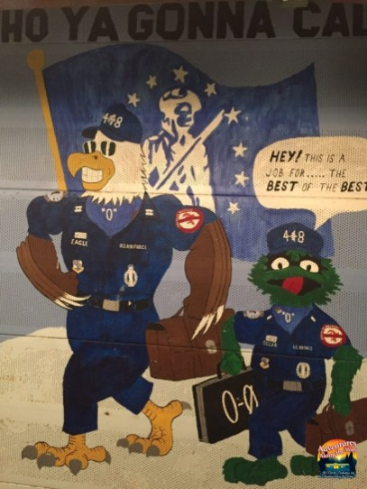 Mural on the wall at the Oscar-Zero Missile Alert Facility