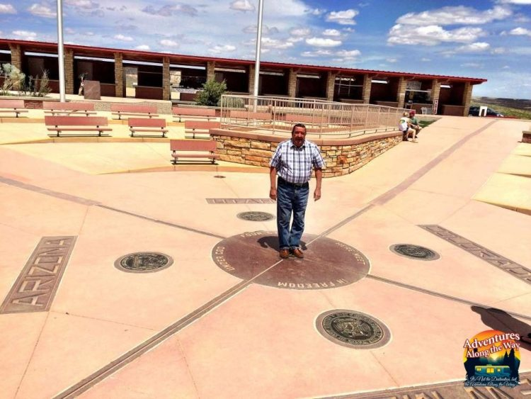 Four Corners marker in New Mexico, Colorado, Utah and Arizona