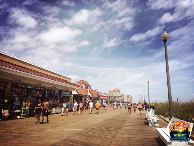 View of the Rehoboth Beach boardwalk, Rehoboth, Delaware