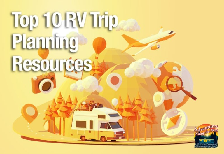 Image of RV and travel icons