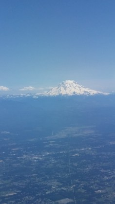 Mt. Rainier view approaching Seattle