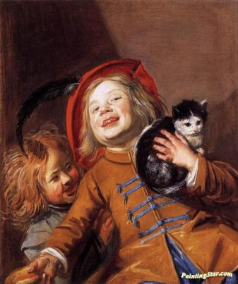 Two Children with a Cat, 1629