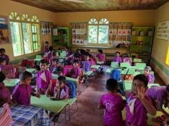 één van de klasjes. Kinderen leren hier al engels op kleuterleeftijd!