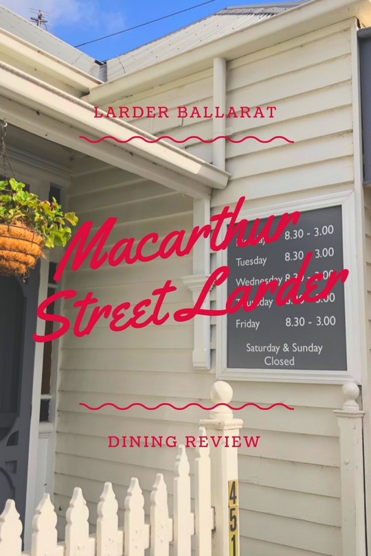 Macarthur Street Larder. Affectionately known as 'The Larder Ballarat' down on the corner of Macarthur Street and Doveton Street North