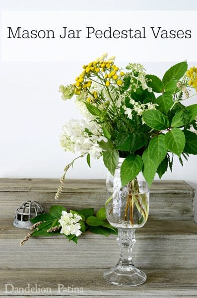 How To Make Mason Jar Pedestal Vases - HMLP 64 Feature