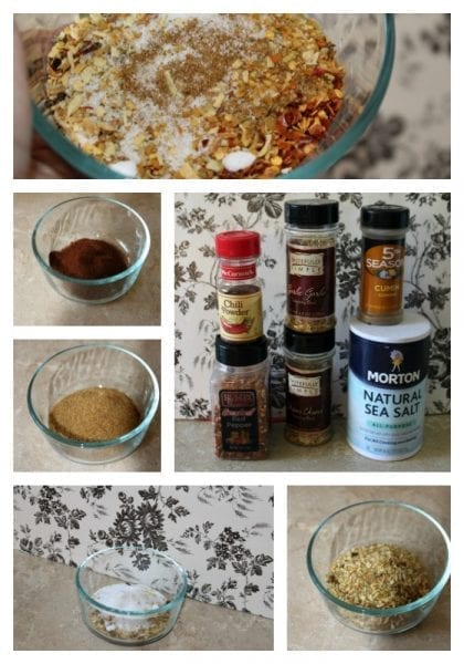 make your own taco seasoning combine ingredients collage