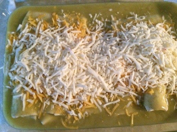 quick and easy burrito casserole with cheese and sauce