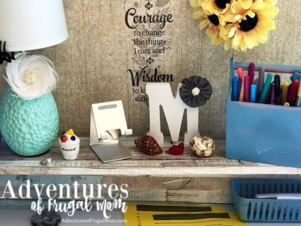 DIY Bible Journaling Desk Contact Paper