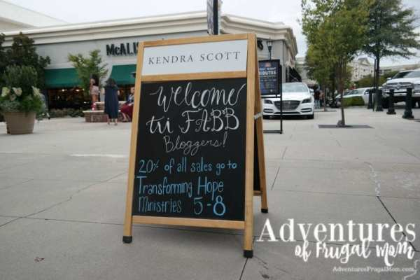 Kendra Scott Jewelry Welcome Sign - Kendra Scott Jewelry Supporting a Great Cause by North Carolina lifestyle blogger Adventures of Frugal Mom