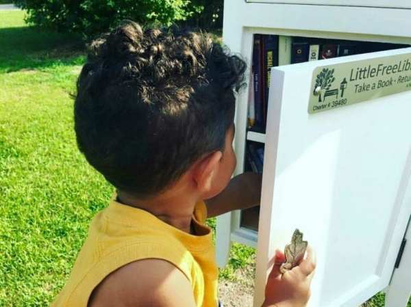 Giving Back Little Free Library by North Carolina Lifestyle Blogger Adventures of Frugal Mom