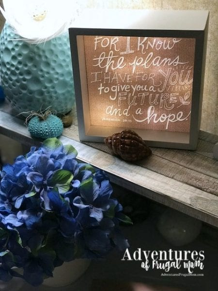 LightBox Arts Reminds Me There is A Plan by North Carolina Lifestyle Blogger Adventures of Frugal Mom