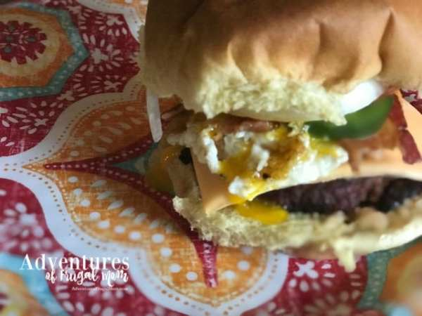 Jalapeno Yum Yum Burger - May is Burger Month from North Carolina Lifestyle Burger Adventures of Frugal Mom
