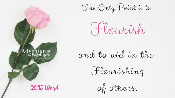 Finally My Word for the Year Flourish from North Carolina Lifestyle Blogger Adventures of Frugal Mom