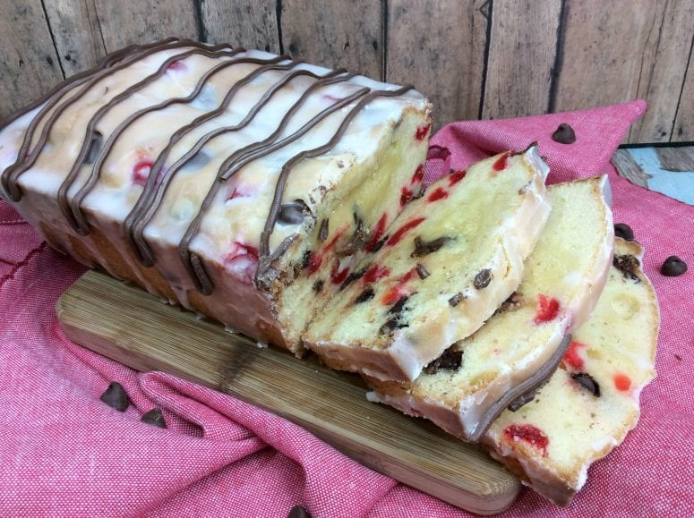 Fresh From the Oven Iced Cherry Bread