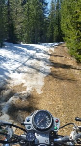 snow encroaching