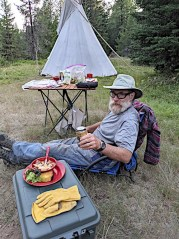 Dave dining