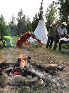steelhead roasting