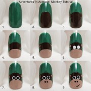 tutorial tuesday monkey nail art