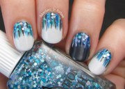 waterfall nail art with elevation