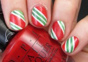 candy cane nail art - adventures
