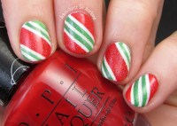 Candy Cane Nail Art! - Adventures In Acetone