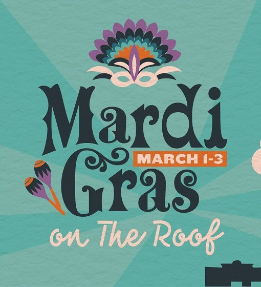 Mardi Gras On The Ponce City Roof 2019 Friday March 1st