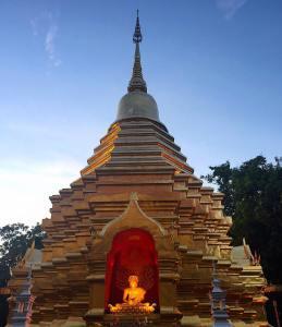 Golden evening in Chiang Mai
