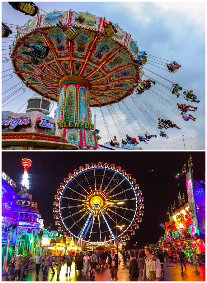 Oktoberfest carnival and midway