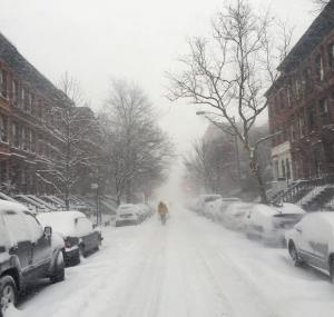 Blizzard in Harlem The snow is already almost kneedeep andhellip