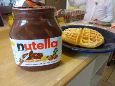 Nutella and Waffle