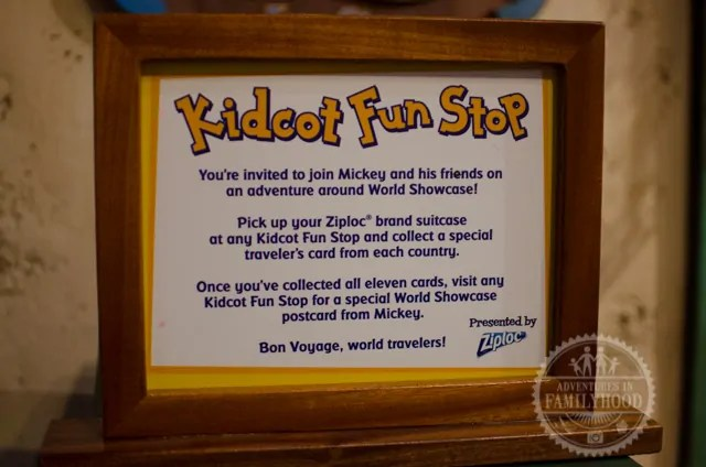 Epcot Kidcot Fun Stop by Ziploc Instructions
