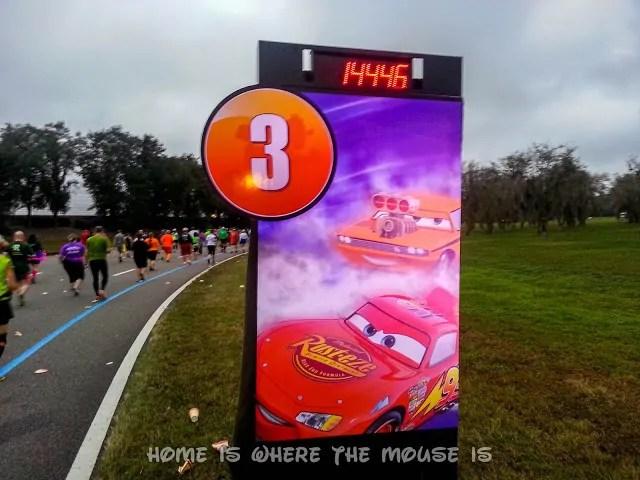 Lightning McQueen on the 3rd Mile Marker