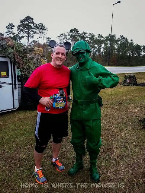 Posing with the Green Army Guy