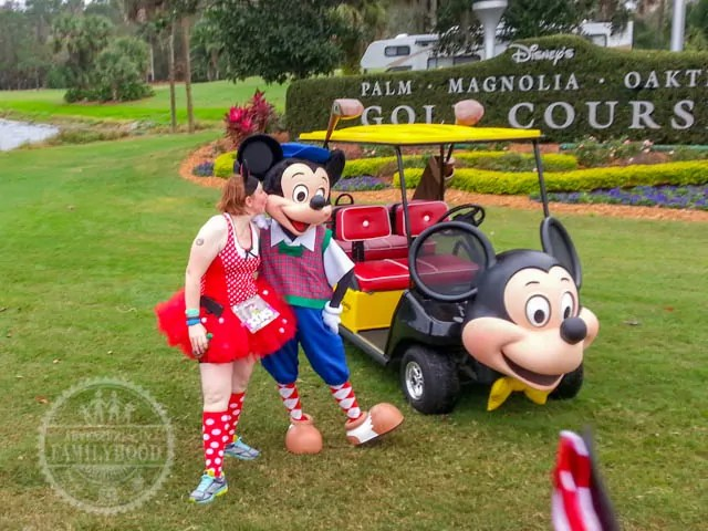 Golfer Mickey Photo Op 2014 Walt Disney World Half Marathon