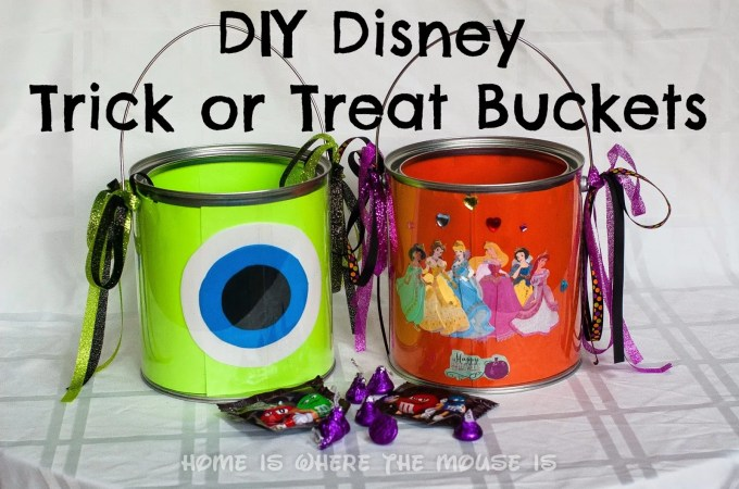 DIY Disney-themed Trick or Treat Buckets