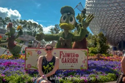 Epcot Flower & Garden Festival Goofy for Spring Topiary