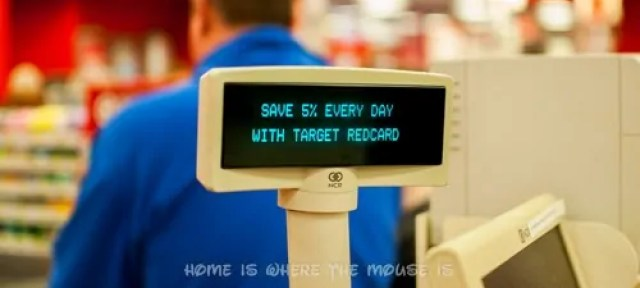Target REDcard discount is applied automatically at checkout