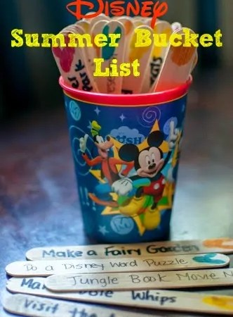 Disney-themed Summer Bucket List