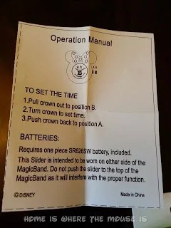 Instructions for Minnie Mouse MagicBand Watch Slider
