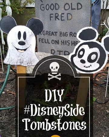 Disney Halloween Decor | #DisneySide Tombstones