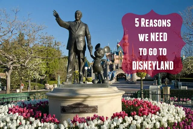 5 Reasons We Need to Go to Disneyland