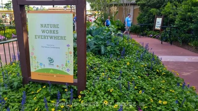Nature Works Everywhere Garden at the Epcot International Flower & Garden Festival