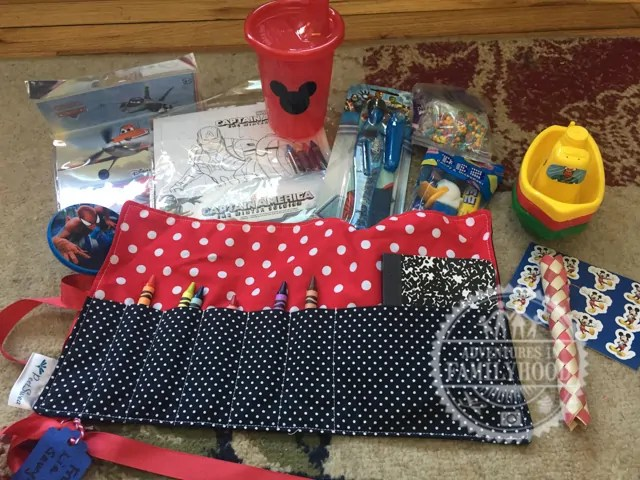 Gifts for the kics put into Fish Extenders by guests on our Disney Cruise