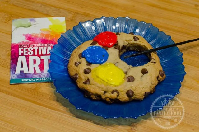 Epcot Festival of the Arts Artist Palette Cookie