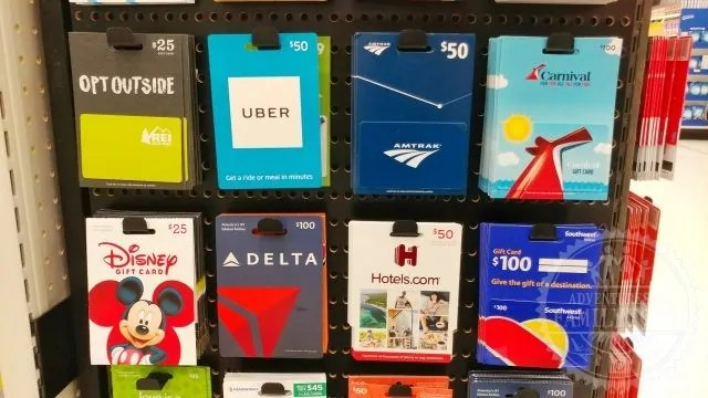 gift cards at target store