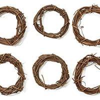 """Grapevine Wreaths 6"""" Bulk-Natural"""
