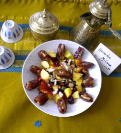 Iftar at Home with fruit khoshaf