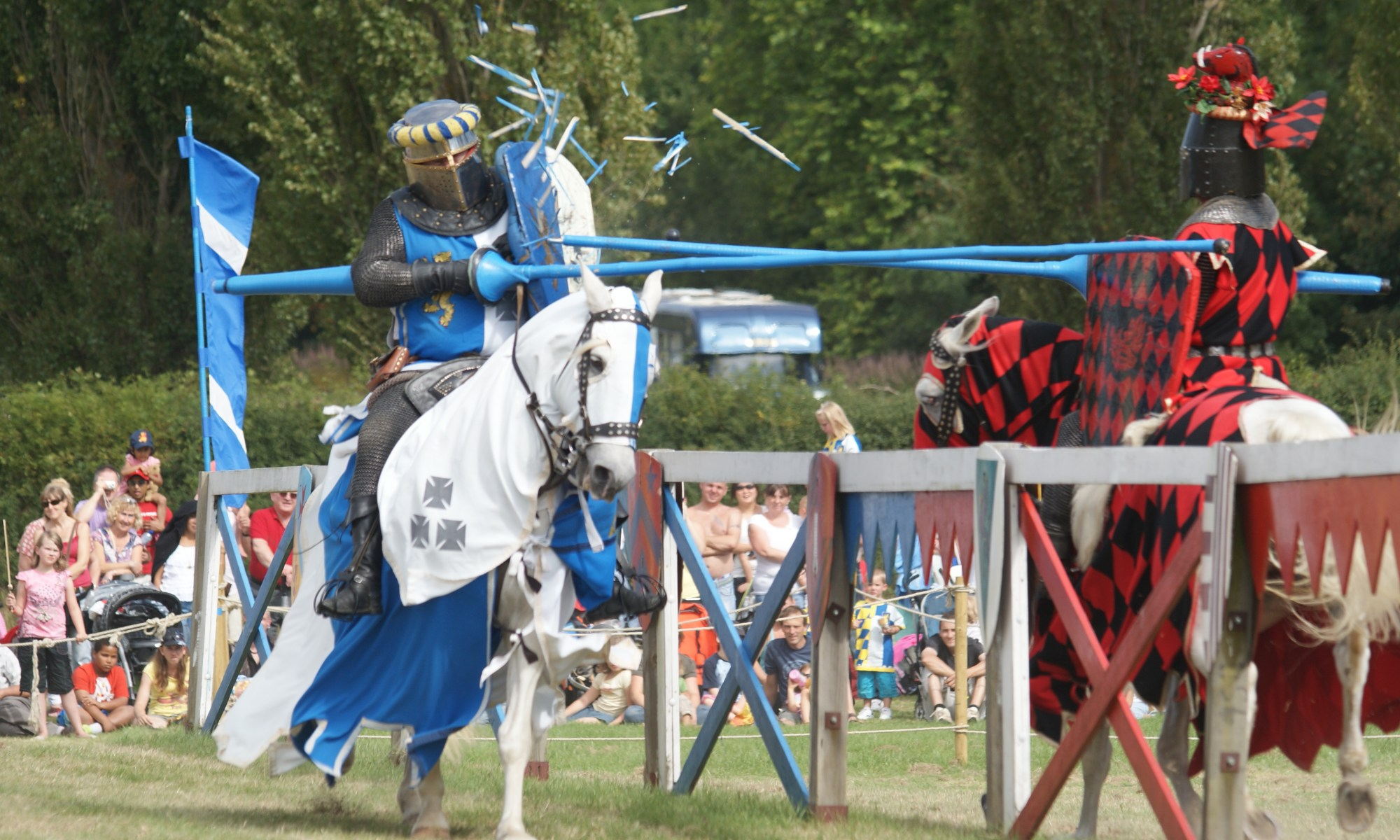 Jousting replaced the Melee as the main event towards the middle of the 13th century